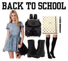 """""""Back to School"""" by elizabeth-912 ❤ liked on Polyvore featuring Naughty Monkey, Plush, Tory Burch, Missguided, Kate Spade and Parker"""