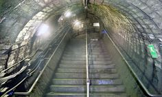 North End underground station near Hampstead Heath in London has never been used (photo by Nick Catford / Subterranea Britannica) Tube Stations London, London Underground Stations, Northern Line, We The Kings, Hampstead Heath, London Art, Underworld, Abandoned Places, The Guardian
