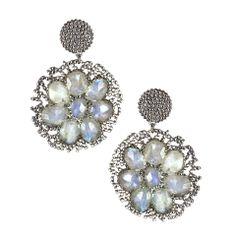 Flower Disc Drop Earrings – Andreia Fuzon Jewelry