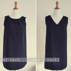 1) Coudre le Dos et le Devant de la robe, endroit contre endroit, au niveau des épaules et des côtés.  2) Surjeter (ou utiliser le point zig zag si pas de surjeteuse) les bords à vifs ensemble.