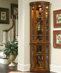 Pair Drexel Travis Court Mahogany Corner Cabinets On