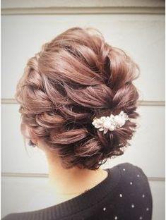 Dance Hairstyles, Party Hairstyles, Wedding Hairstyles, Hair Dos For Wedding, Bridal Hair, Hair Up Styles, Glamorous Hair, Hair Arrange, Hair Setting