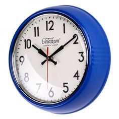 blue kitchen wall clocks glass cabinet 38 best buyable pins images retro home decor clock round second hand battery modern new