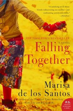 Falling Together by Marisa de los Santos. Three inseparable college friends -- Pen, Cat, and Will -- who finally go their separate ways until Will and Pen get a mysterious summons from Cat to their college reunion. What they find there is each other, but no Cat, only Cat's forlorn husband, Jason -- the catalyst for the trio's split six years earlier. Jason tells them a story that sends them on a journey that changes everything.