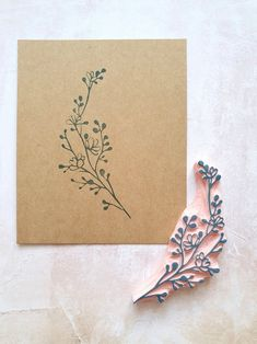 fabric stamping Twig rubber stamp for boho wedding elegant ceremony deco Handmade Stamps, Ideias Diy, Wood Working For Beginners, Stamp Making, Custom Stamps, Linocut Prints, Art Plastique, Fabric Painting, Bridal Accessories