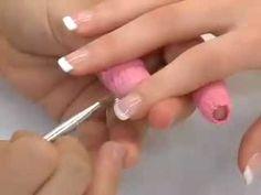 Ricostruzione unghie gel con french manicure - nails