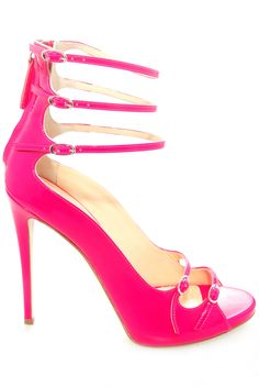 Giuseppe Zanotti neon pink heels. Love! #shoes #pink