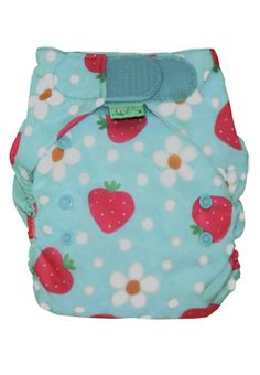 Frugi summer ocean strawberry reuseable cloth nappies. One size fits from Newborn to Toddler