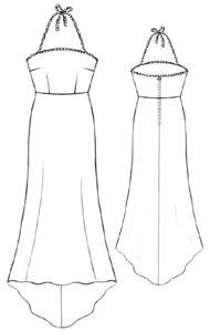 Women :. Dresses :. #5213 The light open dress
