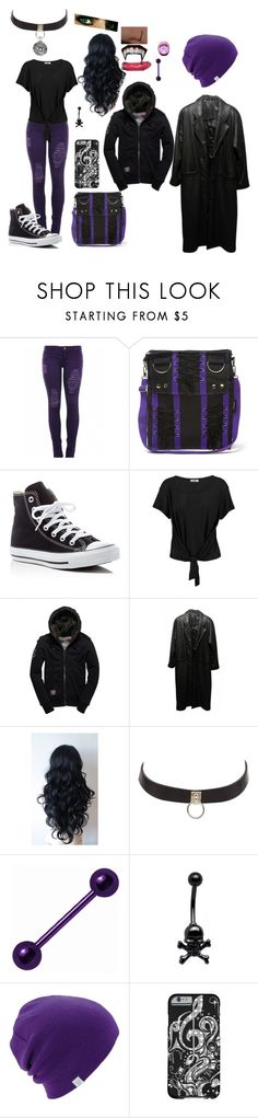 """""""Finding out (Buffy The Vampire Slayer Fic)"""" by evil-unicorn90 ❤ liked on Polyvore featuring Converse, LnA, Superdry, Jacqueline ferrar, Charlotte Russe, Traits, Coal and Bling Jewelry"""
