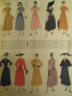 1948 Vogue patterns fashion illustration spread