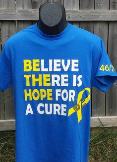Childhood Cancer Awareness Tee Be The Hope by CaseysCreationsNTees