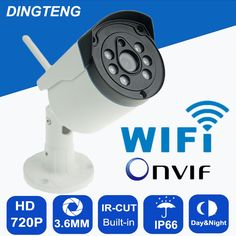 27.19$  Buy now - http://aliks0.shopchina.info/go.php?t=32754010893 - IP66 Waterproof Outdoor/Indoor Bullet IP Camera Wifi Wireless IP Cam 720P  Optional ONVIF Camera With TF Card Slot CCTV Camera  #magazineonline