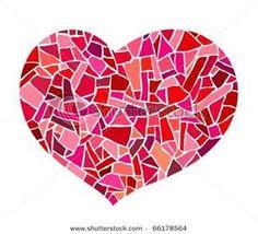 Pink Mosaic Heart Stock Vector 66178564 : Shutterstock