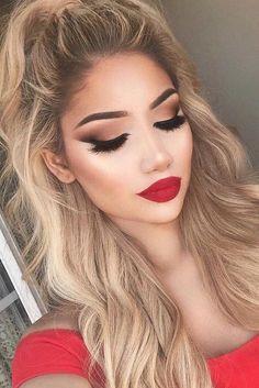 be80a04fa7c2 35 mejores imágenes de Maquillaje para Vestido Rojo en 2018