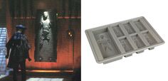 Yes, it is a a Hans Solo Frozen in Carbonite ice tray.