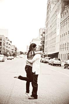 Street shot // Photo by Angeli #minneapolisweddingphotography #engagementphotos