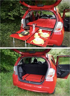 Car Camping Revolutionized | This Bed Folds Into a Suitcase #carcampingbed