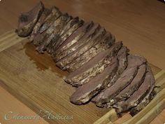 Буженина изговяжьего сердца. Pork, Meat, Ethnic Recipes, Kale Stir Fry, Pigs, Pork Chops