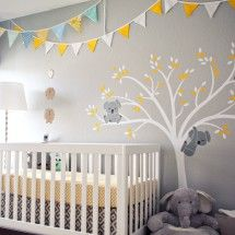 Bunting banner in the nursery...also, the koalas are killing me with their cuteness!