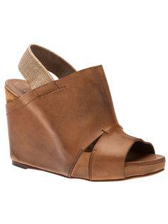 OXS/LINEA MARCHE Slingback wedge sandals