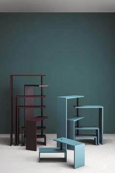 Étagère contemporaine / en acier peint / en acier / par Achille Castiglioni JOY Zanotta