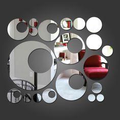 Espelho Decorativo Círculos e Bolas