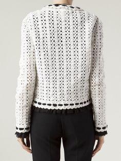 Chanel Vintage Double Collar Crochet Jacket - - Farfetch.com