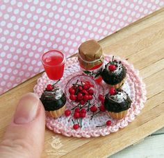 A set of miniature foods for Dollhouse and dolls.Three