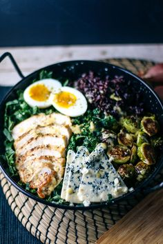 Winter Chicken & Kale Salad