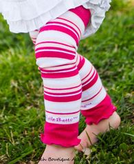 NEW Baby Toddler Girls Pink /& Brown Wide Stripe Leg Warmers