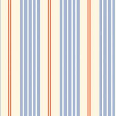 Blue & Orange Striped fabric is lovely for a nautically themed little boy's room!