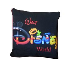 Recycled Tshirt Pillow  Walt Disney World throw pillow by Keke603, $24.00