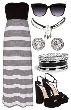 """""""Summer Black And White Dress"""" by deedee-pekarik ❤ liked on Polyvore featuring Hurley, Miu Miu, Wet Seal, OroClone, GUESS, blackandwhite, summerstyle and summerdress"""