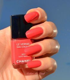 Chanel Le Vernis #615 Sweet Lilac, #619 Pink Tonic, #621 Tutti Frutti and #623 Mirabella from Reflets D'Été Summer 2014 Collection, Swatch & Comparison / Color Me Loud