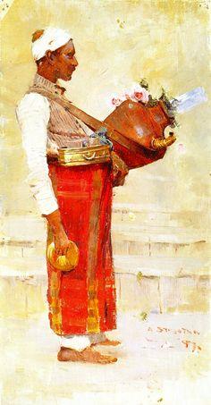Sir Arthur Ernest Streeton (Australian, 1867 – 1943) 'Egyptian Drink Vendor', 1897