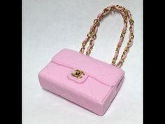 521e68be0cc3 Miniature Chanel Bag(Grand Shopping) Polymer Clay Tutorial 폴리머클레이로 미니어쳐  샤넬가방 만들기