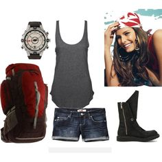 Camping Outfit, created by vintagebean (in my opinion, more practical boots would be nice) Camping Outfits, Camping Attire, Hiking Outfits, Cool Outfits, Summer Outfits, Summer Wear, Summer 2014, Accesorios Casual, Next Clothes
