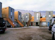 Affordable housing Adaptable / Customisable by occupants Quinta Monroy residential development Chilean architect Alejandro Aravena of Elemental. Schematic Design, Building Contractors, Social Housing, Shipping Container Homes, Affordable Housing, Built Environment, Dezeen, Urban Planning, Slums