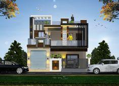 Asa House Gate Design, House Front Design, Modern House Design, Building Elevation, House Elevation, Rolling Shutter, Front Elevation Designs, Tutankhamun, Garage House