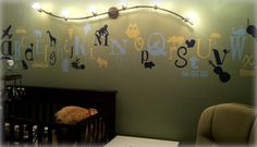 I think the lighting is one idea we may be able to pull off. With Greyson's name underneath.
