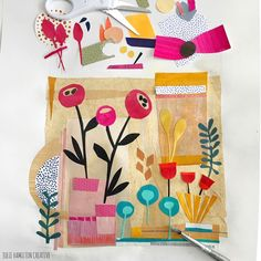3 ideas to try : paper lanterns, end of day baskets and collage experiments – ann wood handmade Paper Collage Art, Painting Collage, Collage Artists, Paper Art, Paper Crafts, Cut Paper, Collage Collage, Paintings, Collages