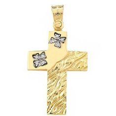Σταυροί: ΣΤ/ΚΤΑ702 -Χρυσός βαπτιστικός σταυρός 14Κ Home Decor, Decoration Home, Room Decor, Interior Design, Home Interiors, Interior Decorating