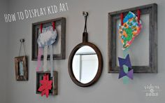 How to display kid art - love this for our homeschool classroom