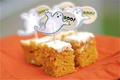 Boo Bars: Pumpkin Bars with Cream Cheese Frosting