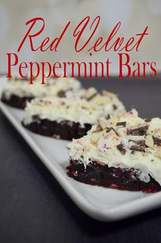 red velvet peppermint bars