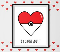 I choose You Printable art love print Funny Valentine by shooshles  #ritnable_art #print #love #loveprint #love_poster #heart #i_choose_you #pokemon #artwork #rawing #illustration #illustrator #lovers #valetine #valentine'sday #valentine_gift #gift_for_her #gift_for_him #orher #giftidea #loveyou #ioveyou #handwritten #drawing #rt #poster #gift #artist #etsy #etsyshop