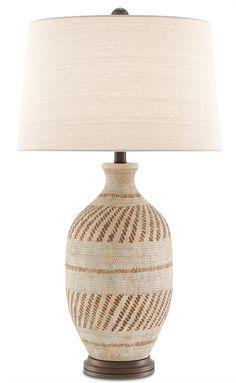 F Basketweave f aiyum Table Lamp | Currey & Company