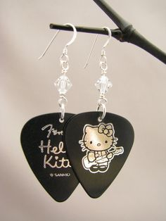 Hello Kitty Earrings  Hello Kitty Jewelry  by BlueMonkeyBling, $10.25