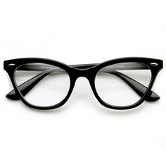 eeaf6208d2f Womens Retro 1950 s Fashion Clear Lens Cat Eye Glasses 9276